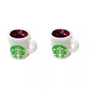 Starbucks Coffee Cup Stud Earrings
